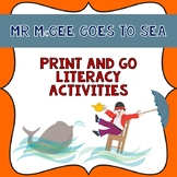 Mr McGee Goes to Sea Book Companion- Print & Go Literacy Activities.