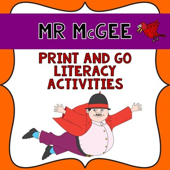 Mr McGee Literacy print and go unit in Queensland beginners font.