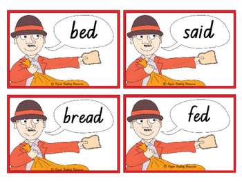Mr McGee and the Big Bag of Bread - rhyming words and action words games