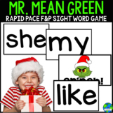 Mr. Mean Green Christmas Fountas and Pinnell Sight words.