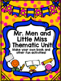 Mr. Men and Little Miss Thematic Unit