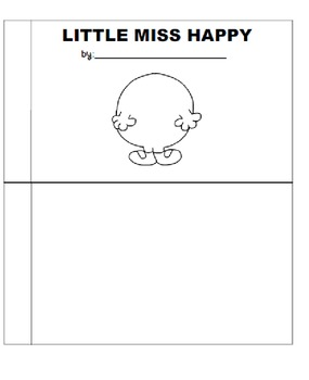 mr men and little miss mini books and template by eduscribble tpt