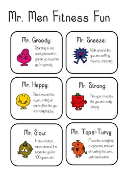 Mr Men fitness fun