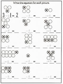 Mr Minus Worksheet Grade 1 Basic Subtraction By Worksheetsbycherie