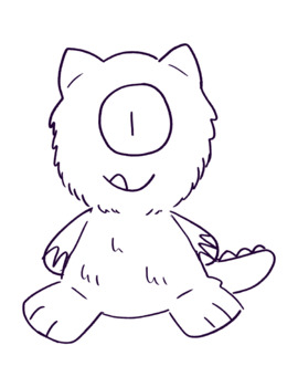 Mr. Monster Coloring Page