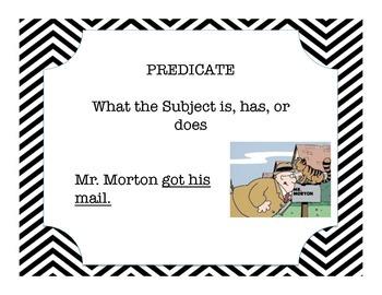Mr. Morton Subject and Predicate Anchor Charts