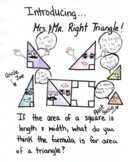 Mr. & Mrs. Right Triangle Area Worksheet