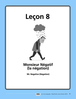 French Negation Song and Writing Activities