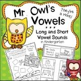 Kindergarten Short Vowel and Long Vowel Sounds Activities and Centers