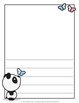Mr. Panda Writing Pages