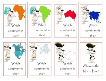 Mr. Peabody Geography Card Game