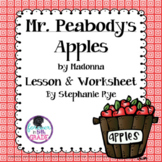 Mr. Peabody's Apples by Madonna -  Core Standards Lesson and Worksheets