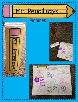 Mr. Pencil Says...{A fun Simon Says Spelling Game}