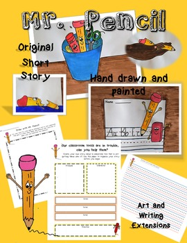 Mr. Pencil -  Digital book, Writing, and Art Extensions