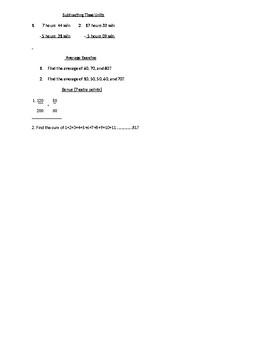 Mr. Peng Basic Math Test Version 1