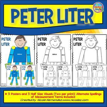 Liquid Measurement - Liters and Milliliters - Mr Peter Liter (US & UK Spellings)