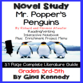 Mr. Popper's Penguins Novel Study & Enrichment Projects Menu