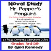 Mr. Popper's Penguins Novel Study & Projects Menu; Plus Digital Option