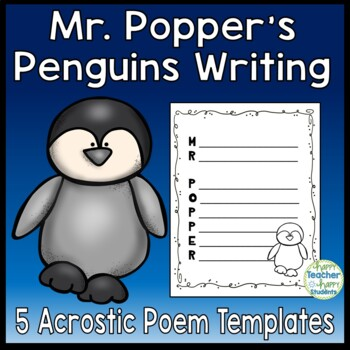 Mr. Popper's Penguins Writing Activity - 5 Acrostic Poem T