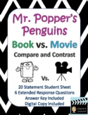 Mr. Popper's Penguins Book vs. Movie Compare and Contrast.