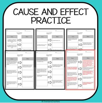 Mr. Popper's Penguins- Cause and Effect Practice Sheets