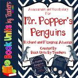 Mr. Popper's Penguins Comprehension Questions, Vocabulary,