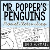 Mr. Popper's Penguins Novel Study Unit Activities, In 2 Formats