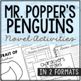 MR. POPPER'S PENGUINS Novel Study Unit Activities | Creative Book Report