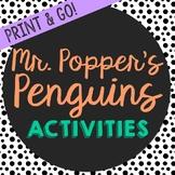 Mr. Popper's Penguins Novel Unit Study Activities, Book Co