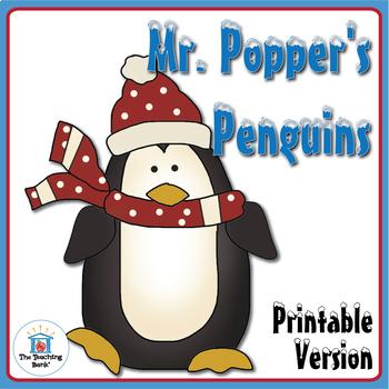 Mr. Popper's Penguins Novel Study Book Unit Printable Version