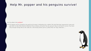 Mr. Popper's Penguins PBL
