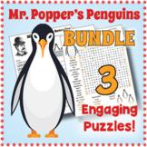 MR. POPPER'S PENGUINS BUNDLE - 3 Vocabulary Puzzle Worksheet Activities