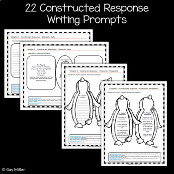 Mr. Popper's Penguins Novel Study: vocabulary, comprehension, writing, skills