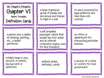 Mr. Popper's Penguins Vocabulary Detective