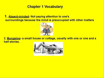 Mr. Popper's Penguins Vocabulary and Questions