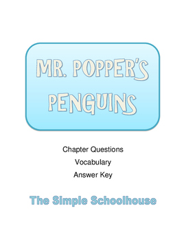 Mr. Popper's Penguins chapter questions