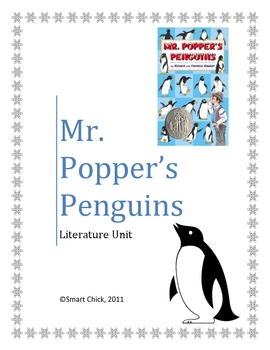 """Mr. Popper's Pengins"", by R. and F. Atwater, Literature Unit, 60 pgs."
