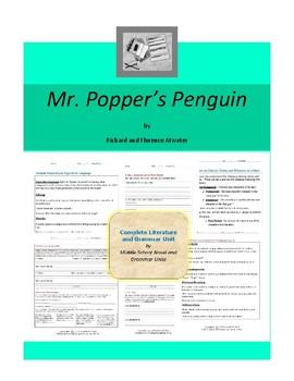Mr. Popper's Penguins Complete Literature and Grammar Unit