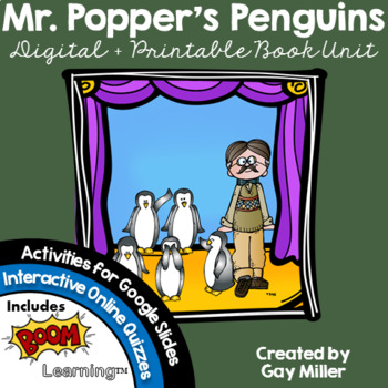 Mr. Popper's Penguins Novel Study: Digital + Printable Unit [Atwater]