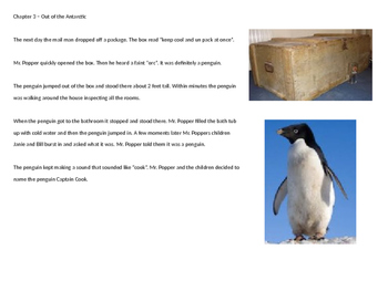 Mr. Poppers Penguins - Adapted Book Power Point summary pictures review