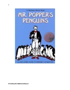Mr. Poppers Penguins - Adapted Book Summary pictures chapt