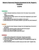 Mr. Popper's Penguins - Bloom's Taxonomy Questions - CCGPS