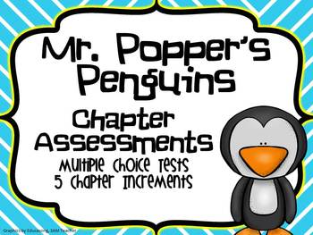 Mr. Popper's Penguins- Chapter Assessments Vocabulary, Com