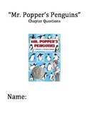 """""""Mr. Popper's Penguins"""" Chapter and Comprehension Questions"""