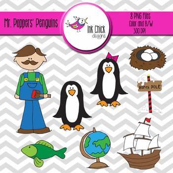 Mr. Popper's Penguins - Clip Art