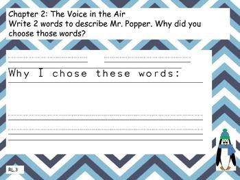 Mr. Popper's Penguins Common Core Reading Journal