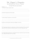 Mr. Popper's Penguins Comprehension Questions