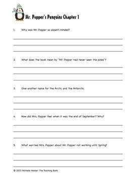 Mr. Popper's Penguins Comprehension and Assessment Bundle