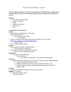 Mr. Poppers Penguins Lesson plans Chapter 5-16