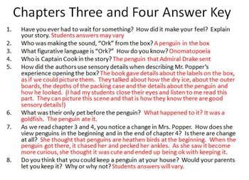 Mr. Popper's Penguins Novel Study WITH Penguin Procedural Text BUNDLE